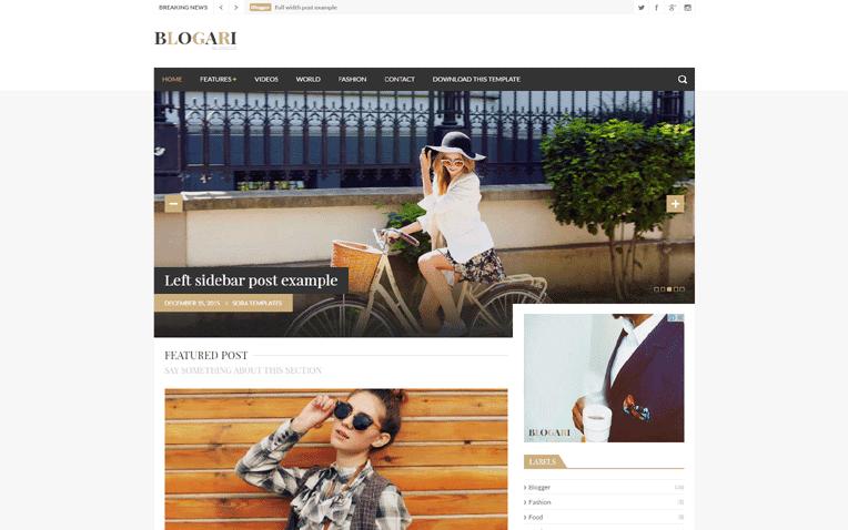 Blogari Free Blogger Template
