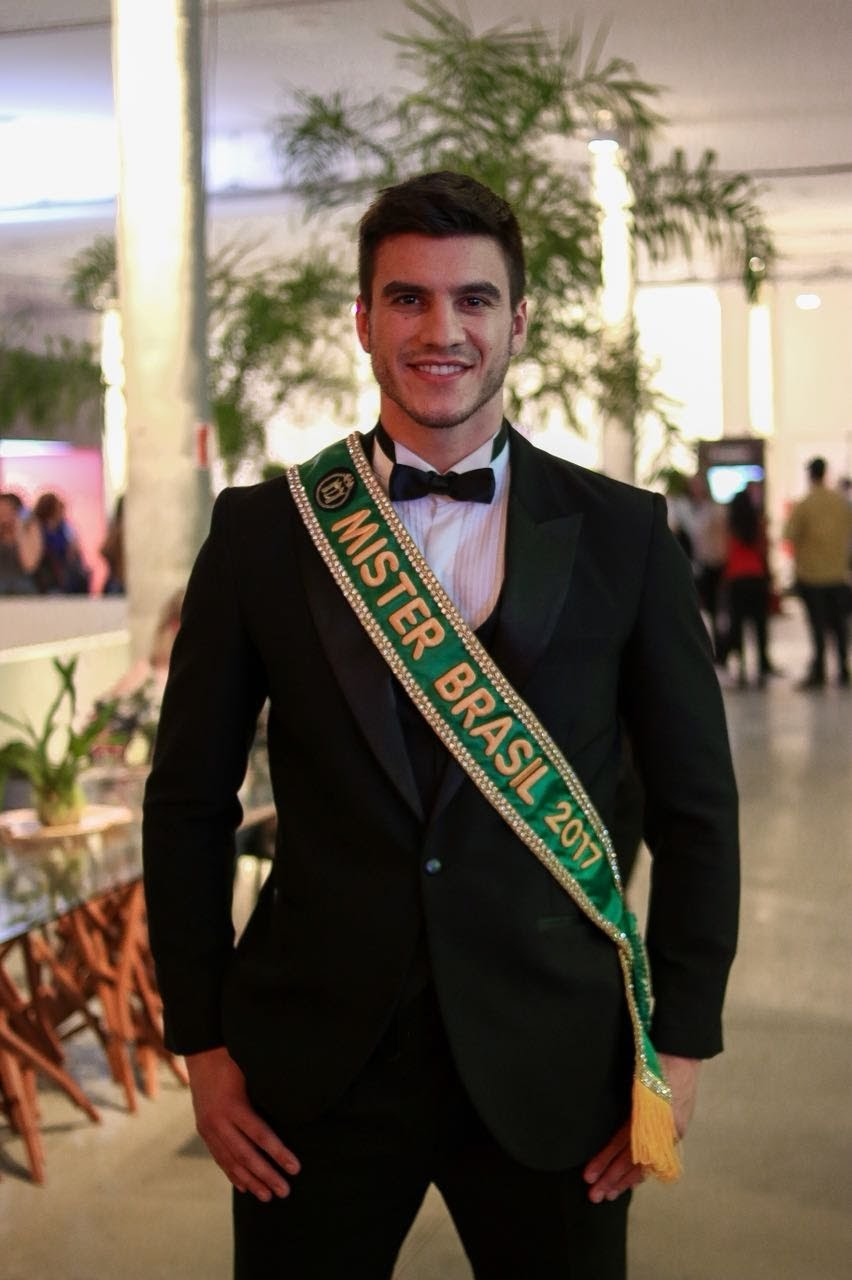 Bruno Poczinek, Mister Brasil 2017, no SPFW . Foto: Lucas Lima/Bruno Taveira