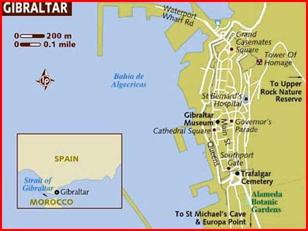 Gambar Peta politik Gibraltar