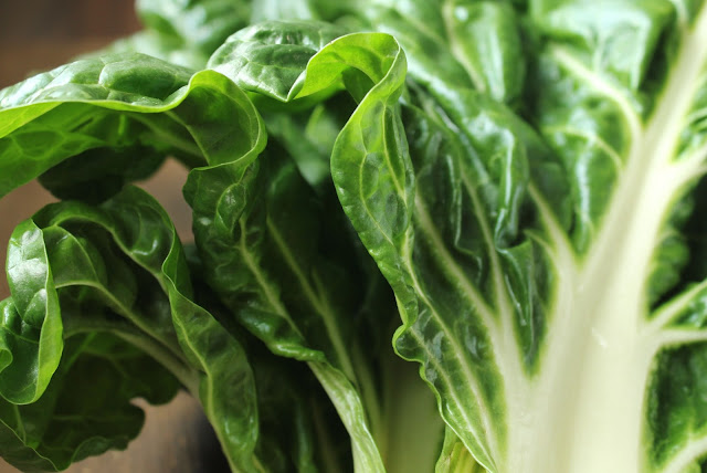green and white swiss chard