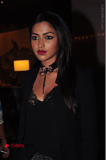 Actress Amala Paul Stills in Black Dress at South Scope Lifestyle Awards 2016 Red Carpet  0023.JPG