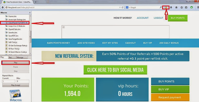 Earn Money Online By LikesPlanet Bot Daily 3$ ~ Learn to Earn