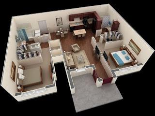 Dua kamar utama