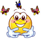 smiley butterfly