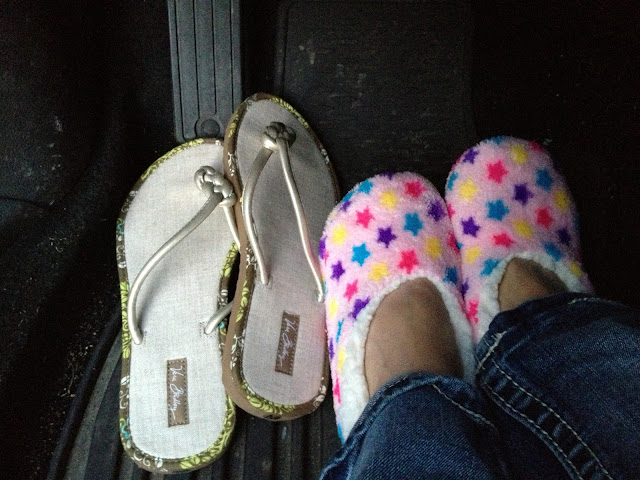 flip flops and car slippers