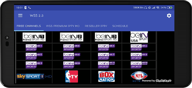 تحميل تطبيق WSS 2.3 في نسخته الاخيرة لمشاهدة جميع القنوات المشفرة على الاندرويد