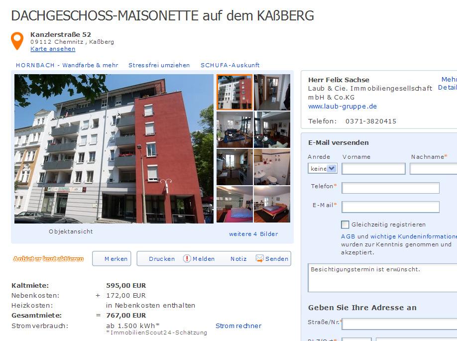 dachgeschoss maisonette auf dem ka berg kanzlerstra e 52 09112 chemnitz informationen ber. Black Bedroom Furniture Sets. Home Design Ideas