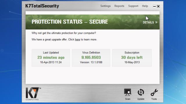 k7 total security offline activation code