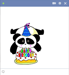 Happy Birthday Panda Emoticon
