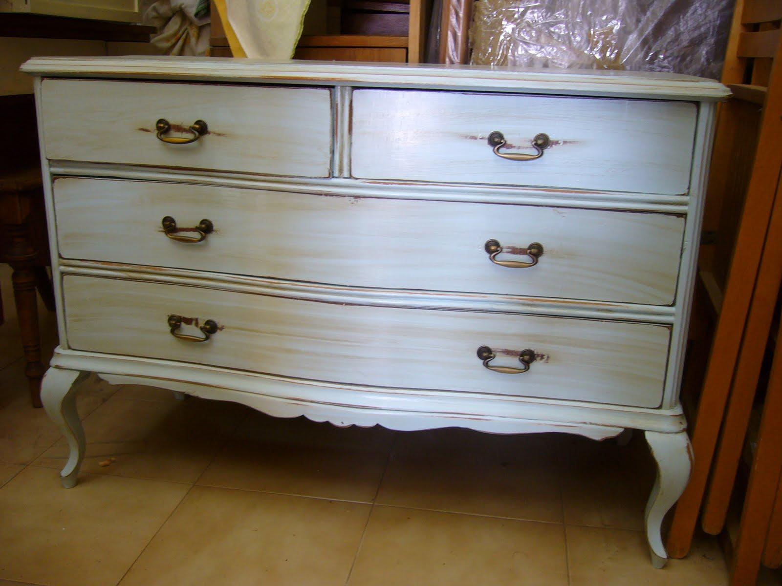 La restauradora muebles patinados algunos trabajos realizados en las clases - Muebles antiguos lacados en blanco ...