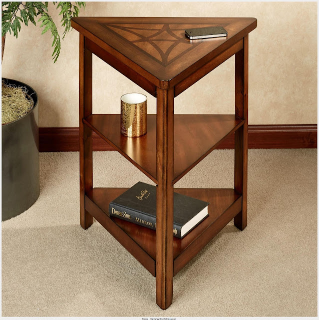 Marvelous Triangle End Table Image