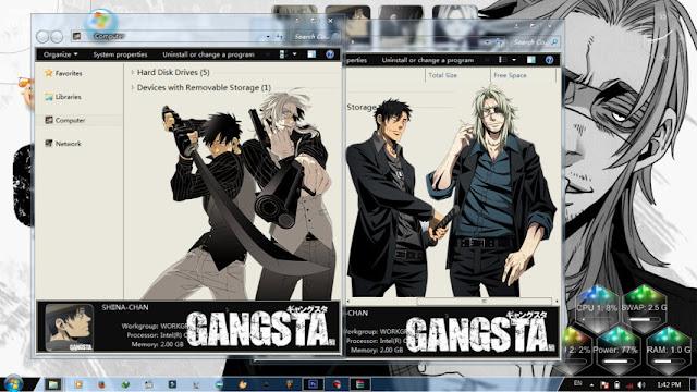 Gangsta Theme Win 7 by Bashkara