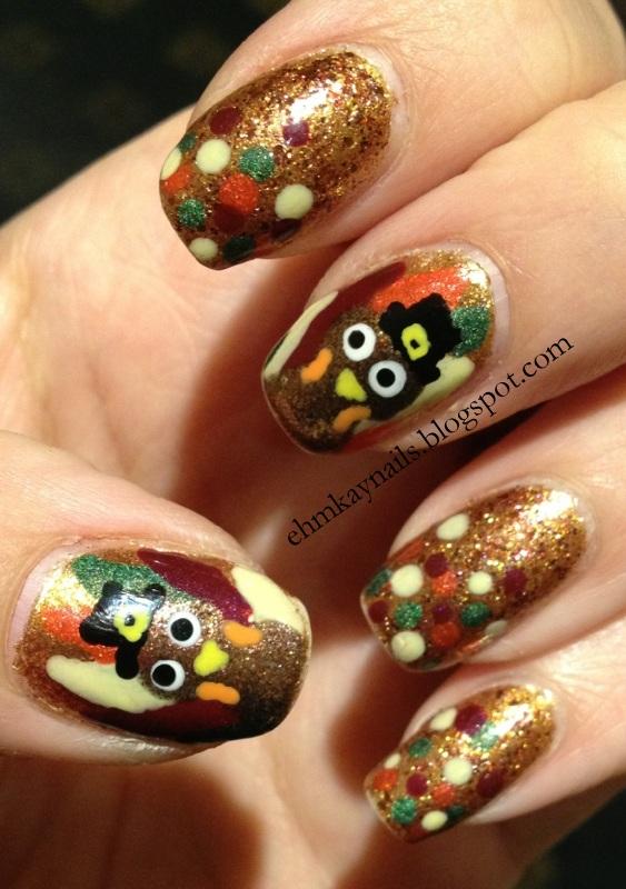 Ehmkay Nails: My Thanksgiving Turkey Nails