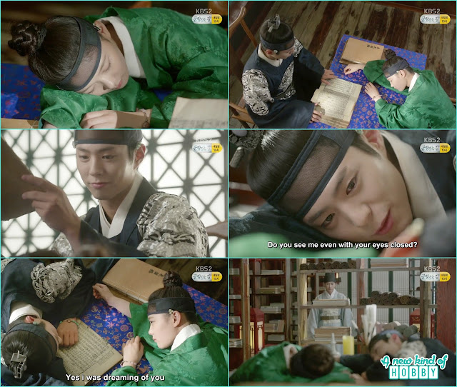crown prince take a nap with ra on in the library   - Love In The Moonlight - Episode 12 Review