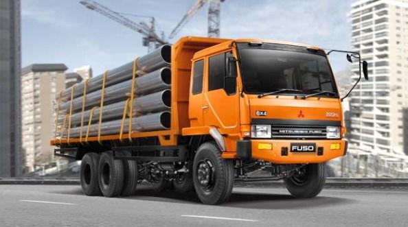 mitsubishi truk fuso warna orange