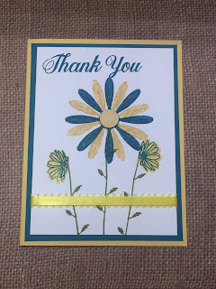 Daisy Delight, stamp, thank you, card