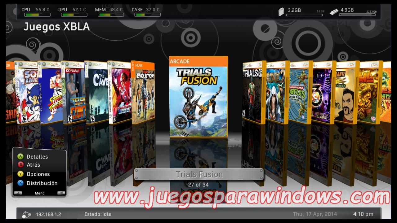 Trials Fusion Xbox 360 Espanol Xbla Rgh Jtag Mongols