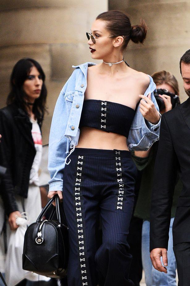 How Bella Hadid Styles Denim