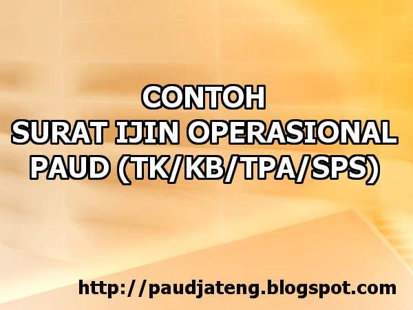 Download Contoh Ijin Operasional Lembaga Paud Format Doc