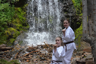 A mom and daughter doing parent recommended martial arts lessons together