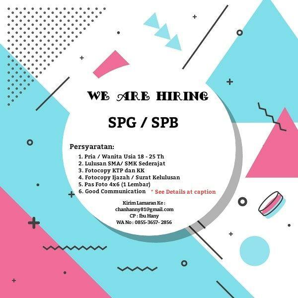 Lowongan Kerja SPB SPB Bandung Oktober 2018