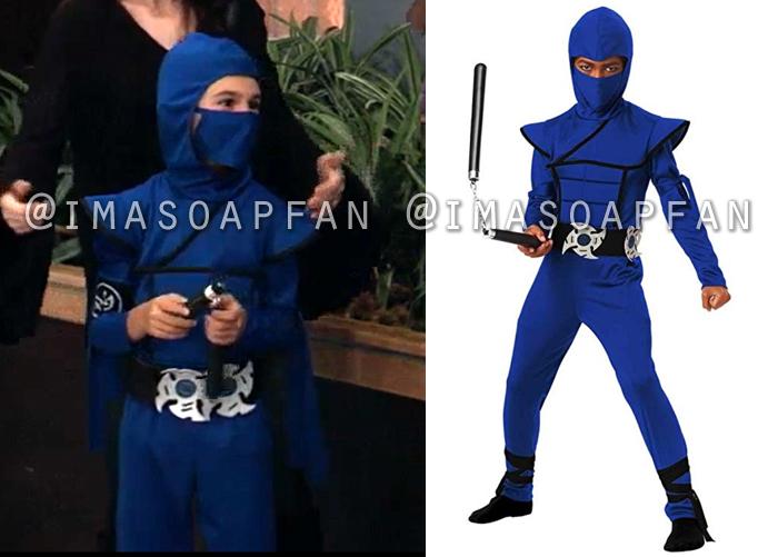 Aiden Spencer, Jason David, Blue Ninja Halloween Costume, General Hospital, GH