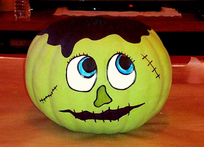 Momentos que amo arte y manualidades paso a paso para - Decoracion calabazas para halloween ...