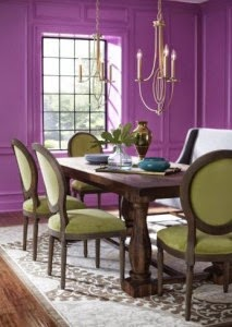 comedor color radiant orchid