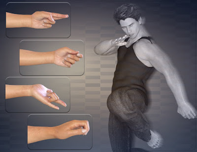 Z In Control - Hand Poses for the Genesis 3 Male