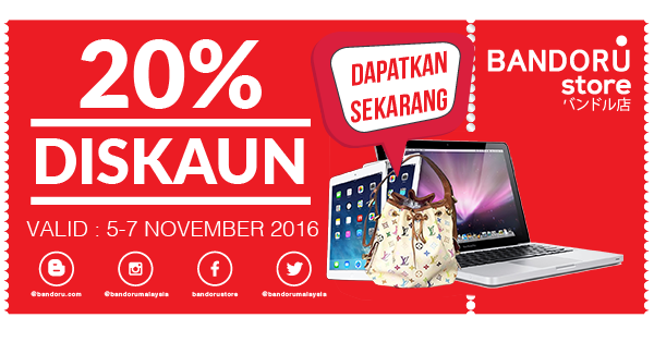 Join Bandoru Store Contest dan Win LV Beg, Macbook and iPad Air 2
