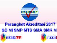 Perangkat Akreditasi 2018 SD MI SMP MTS SMA SMK MA Lengkap