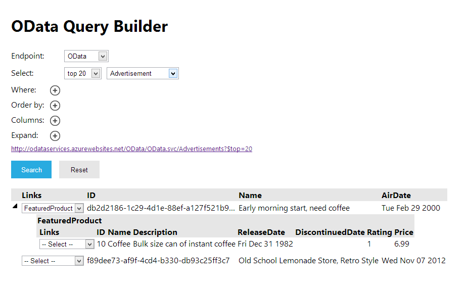 Netweaver Gateway Services: oData Query Builder - A