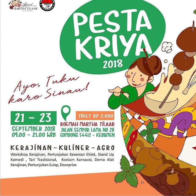 Pesta Kriya 2018, Jadi Ajang Belajar dan Apresiasi Wirausaha Lokal