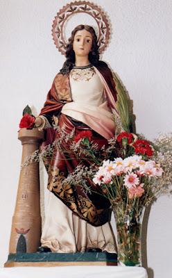 Cerredo, Iglesia de Santa María (1999), Santa Bárbara