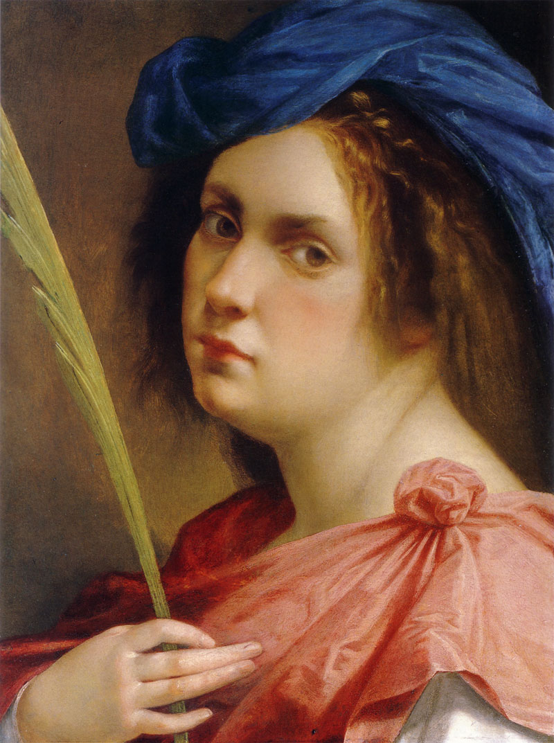 Artemisia Gentileschi 1593-1652 | Italian Baroque Era painter | Self Portrait