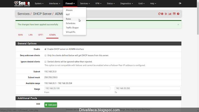 DriveMeca creando y configurando vlan en pfSense paso a paso