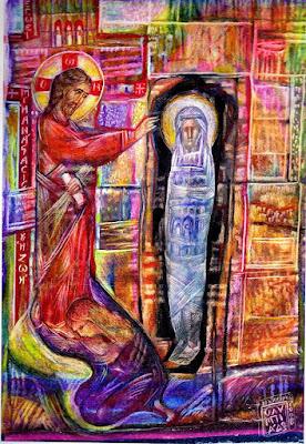 το θαυμαστό γεγονός της ανάστασης του Λαζάρου