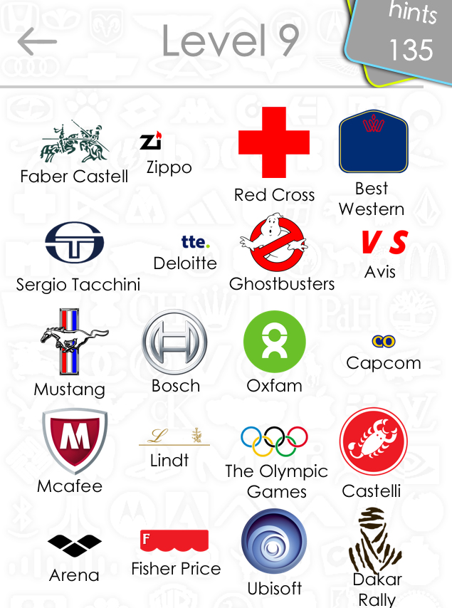 Level 9 Logos Quiz Game Answers For Iphone, Ipad, Ipod ...