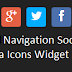 Small Navigation Social Icons Widget