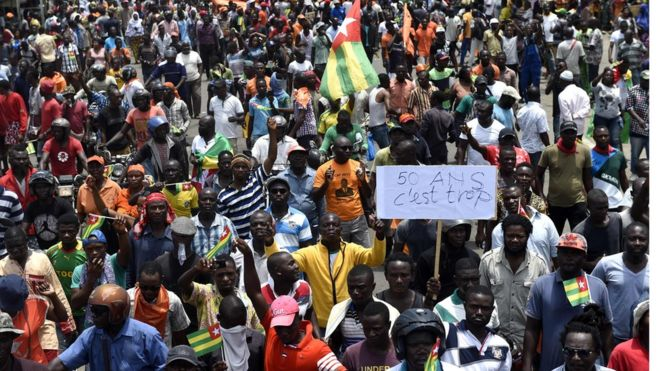 Togo protests against Faure Gnassingbé