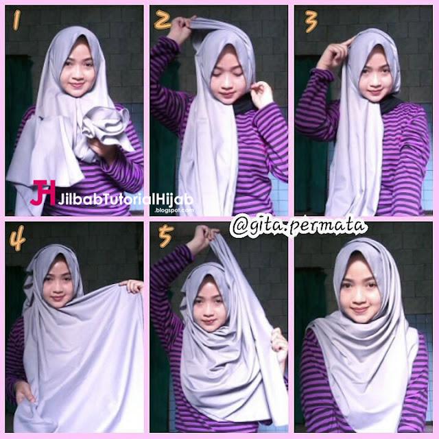 Tutorial style jilbab kali ini berisikan  Tutorial Model Hijab Menutupi Bagian Dada