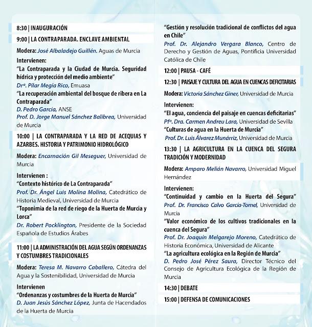 """IV Jornada Agua y Sostenibilidad. """"Gobernanza tradicional de recursos hídricos en cuencas deficitarias"""""""