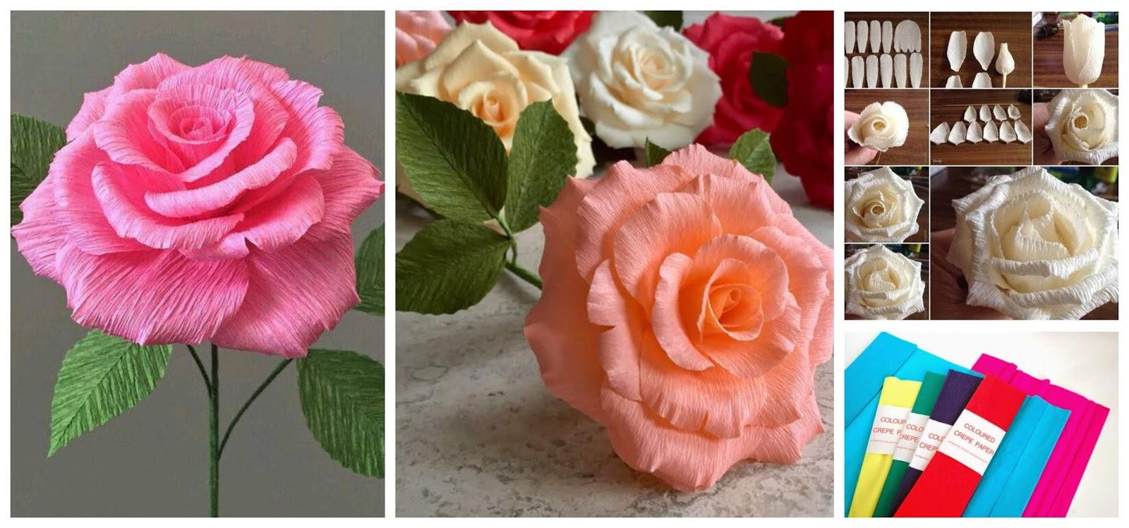 Como Hacer Rosas De Papel Crepe Que Sean Hermosas Y Reales Haz