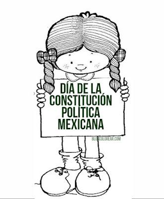dibujos para colorear del Día de la constitución mexicana