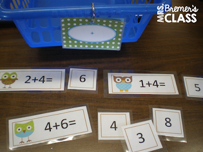 Math centers for young learners- perfect hands-on learning for Kindergarten!