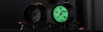 luminous glow in the dark instrument gauge