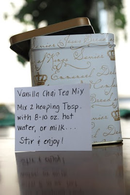 vanilla chai tea mix recipe