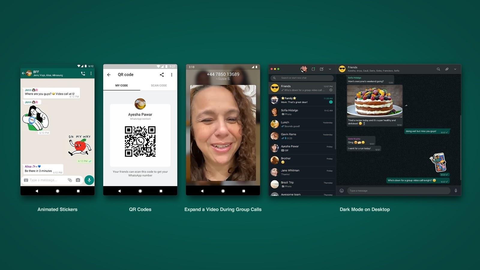WhatsApp se actualiza: llegan los stickers animados y códigos QR para añadir contactos