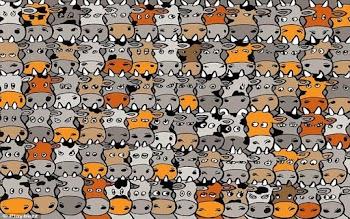 Αυτός ο γρίφος έχει τρελάνει το ίντερνετ! Μπορείτε να βρείτε το σκύλο ανάμεσα στις αγελάδες;