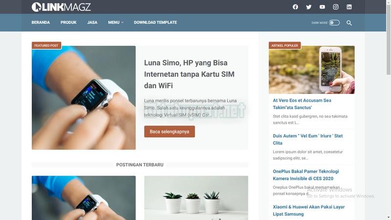 Download Gratis Template Linkmagz Terbaru Premium